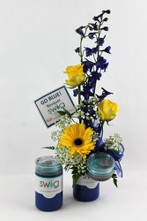 Go Blue Swig Bouquet from Flowers by Ray and Sharon in Muskegon, MI