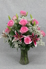 Pink Prestige Roses Vased from Flowers by Ray and Sharon in Muskegon, MI