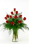 Dozen Red Roses Vased from Flowers by Ray and Sharon in Muskegon, MI