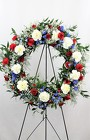 Our Hero, Our Heart Wreath Easel from Flowers by Ray and Sharon in Muskegon, MI