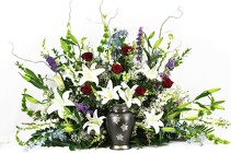 We Treasure Your Memory Urn Surround from Flowers by Ray and Sharon in Muskegon, MI