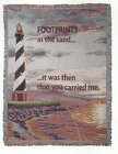 Footprints Sympathy Throw  from Flowers by Ray and Sharon in Muskegon, MI